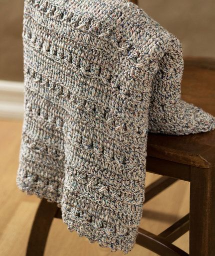 Free Crochet Pattern Afghan For Beginners : [Free Pattern] This Softly Textured Crochet Afghan Is A ...